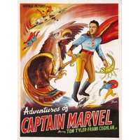 The Adventures Of Captain Marvel Stretched Canvas -  (11 x 17)