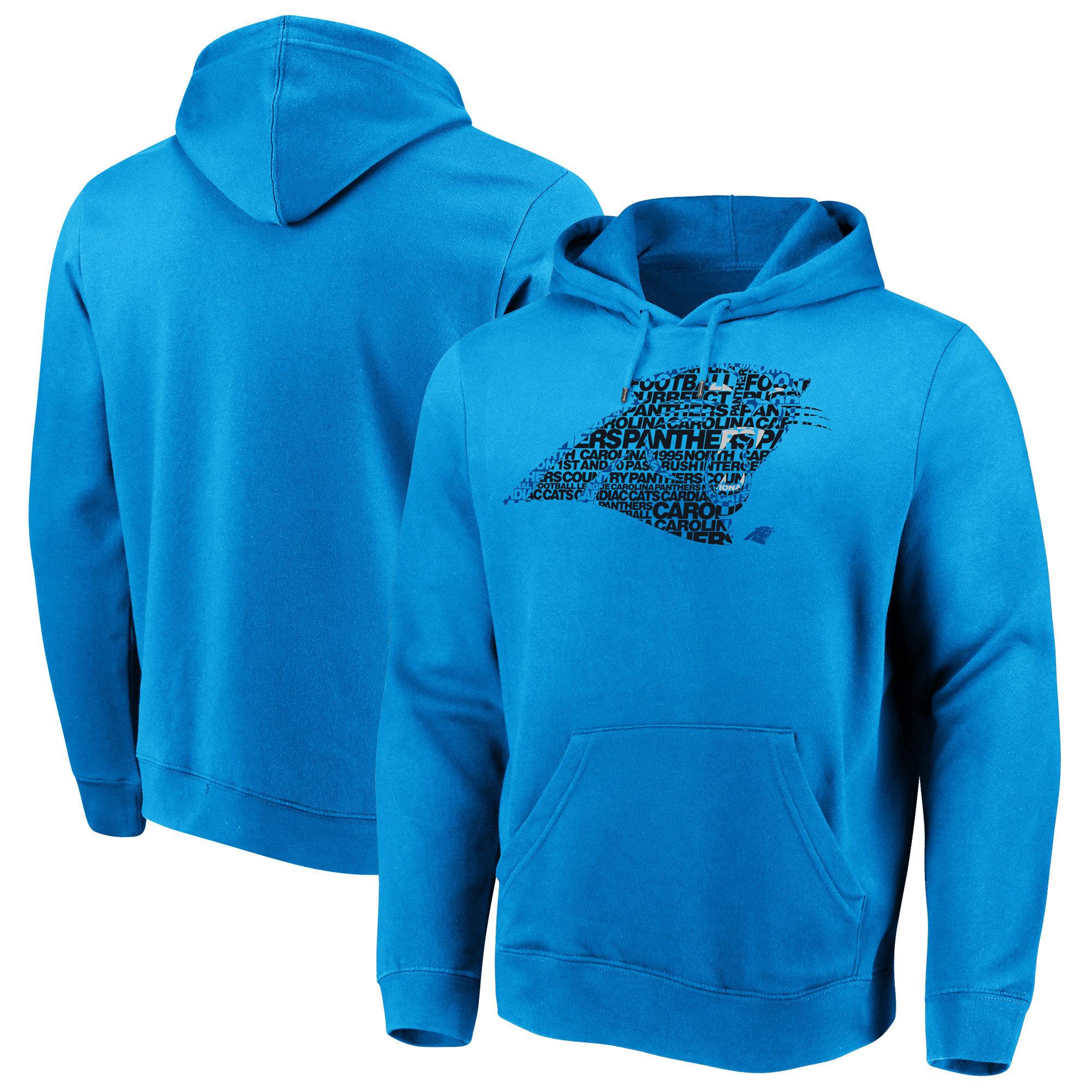 Carolina Panthers Majestic Line of Scrimmage Pullover Hooded Sweatshirt - Blue