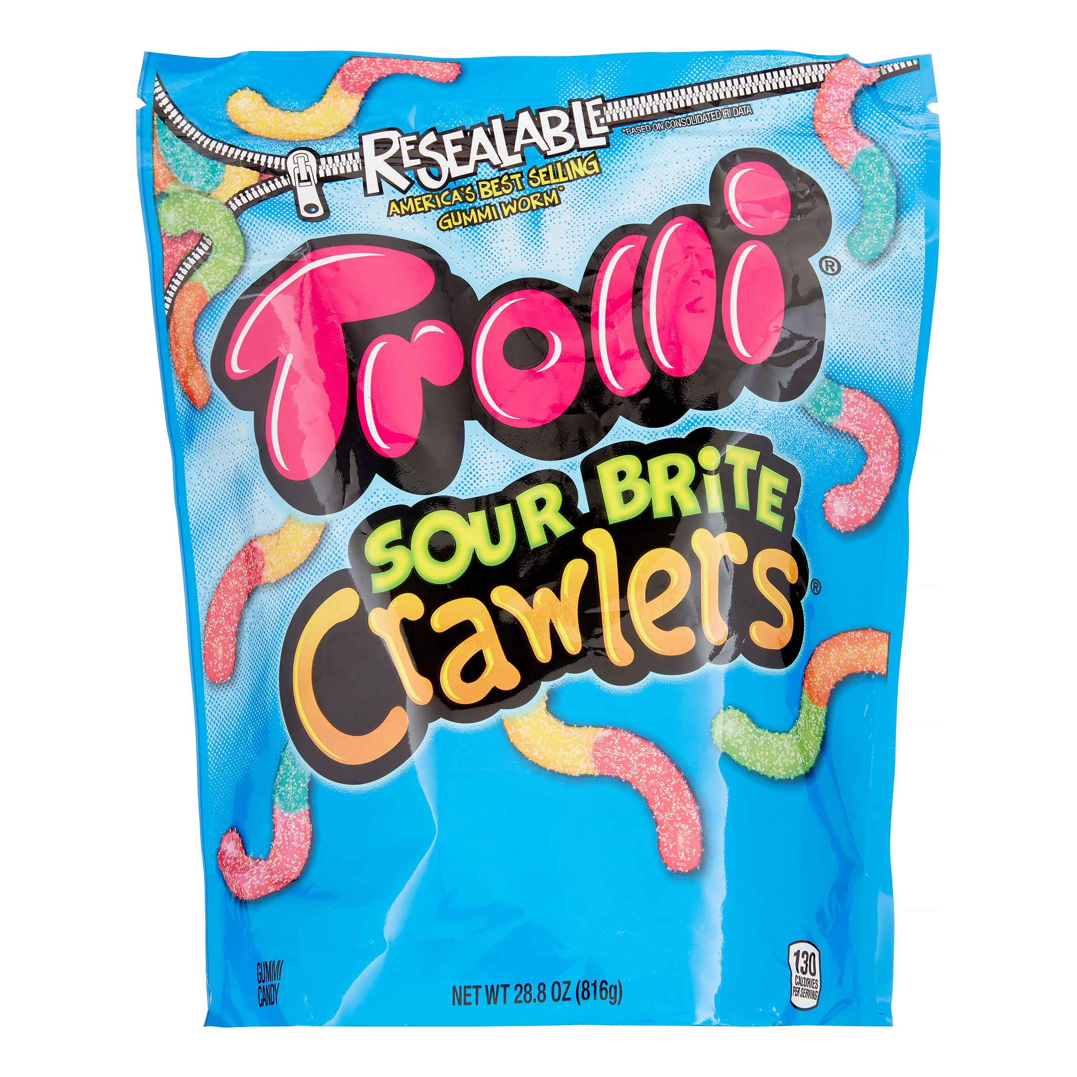 Trolli Sour Brite Crawlers Gummi Candy - 28.8oz