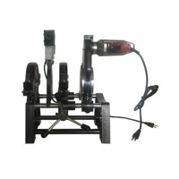"INTSUPERMAI Pipe Welding Machine Electric Tube Butt Fusion Equipment 2.48""-6.30"" Two Clamps with Timer"