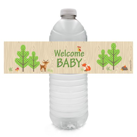 Woodland Animals Baby Shower Water Bottle Labels (Set of 20)