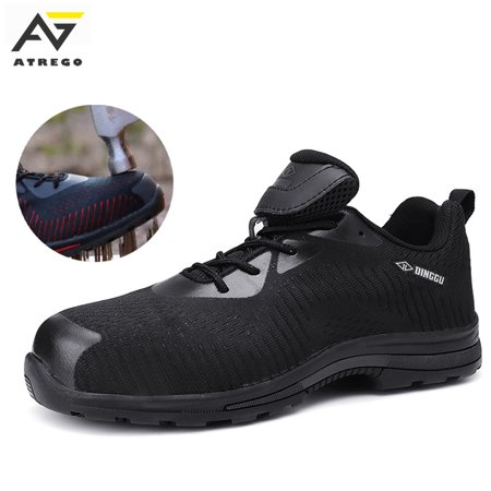 ATREGO Safety Shoes Steel Toe Work Shoes Industrial & Construction Puncture Proof Shoes for