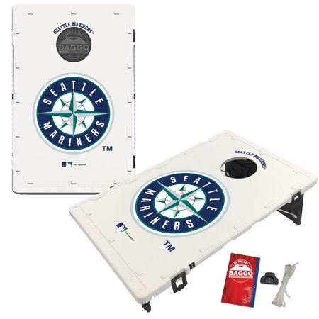 Seattle Mariners 2' x 3' Classic Design BAGGO Bean Bag Toss Game - No Size