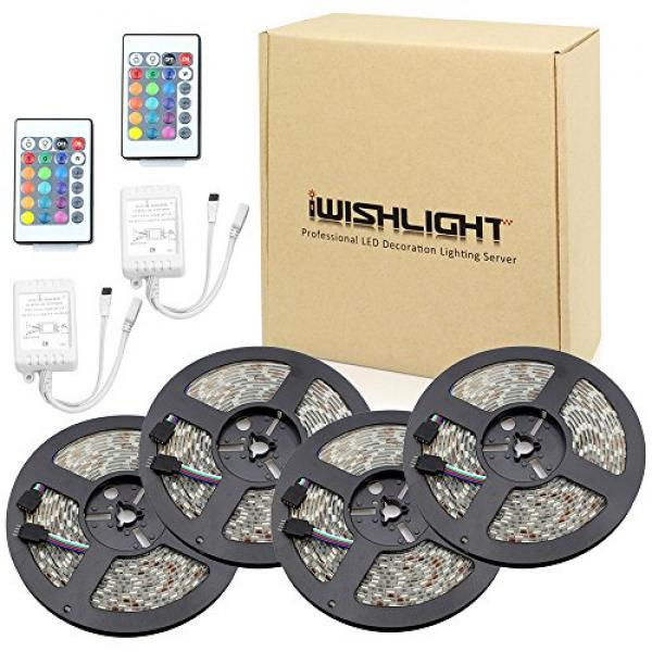 IWISHLIGHT 65.6Ft 20M [4 Roll] SMD 5050 1200LEDs Water-re...