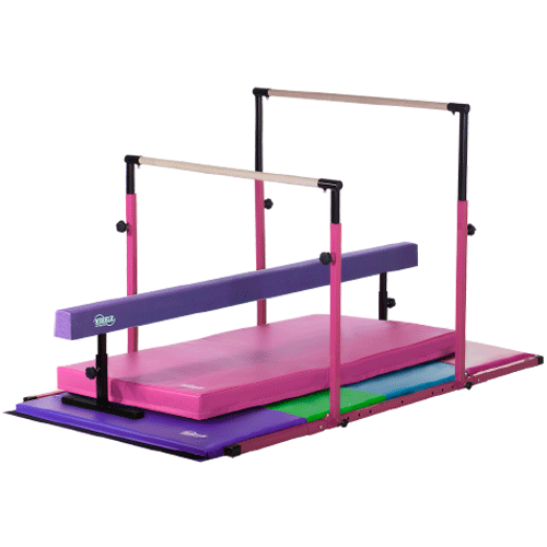 3play Deluxe Pink 3play Bars And Landing Mat Purple