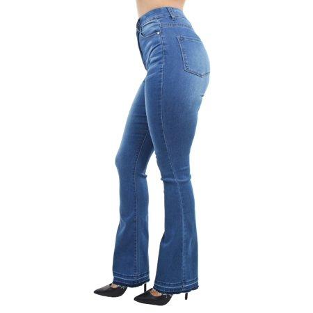 Women's Juniors Bell Bottom High Waist Fitted Premium Flared - Women's Bell Bottom Jeans