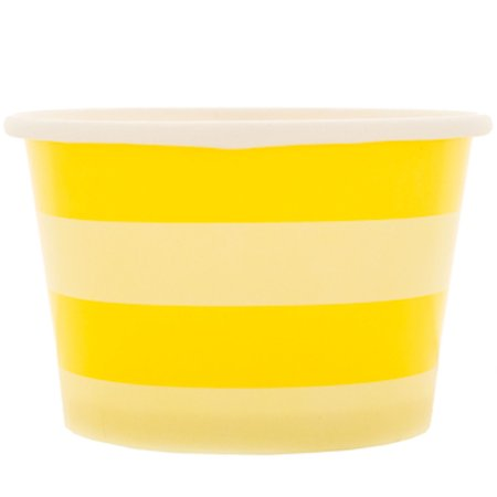 Yellow Striped Snack Bowls Table Decoration Party Supplies Special Events 12 Count - Yellow Bowls