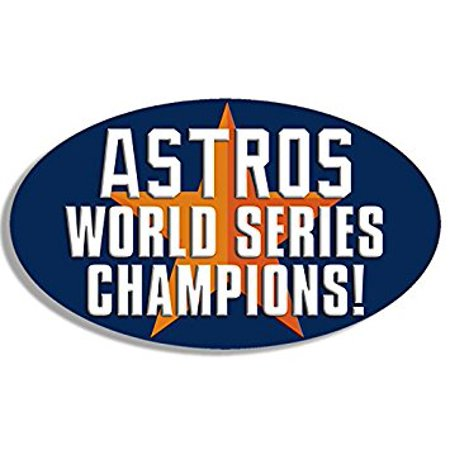 Oval ASTROS World Series Champions Sticker Decal (houston star mlb Sticker Decal ic) Size: 3 x 5 (Mlb Houston Astros Decal)