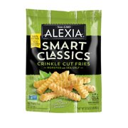 Alexia Smart Classics Crinkle Cut Fries Roasted with Sea Salt, Non-GMO Ingredients, 32 oz (Frozen)