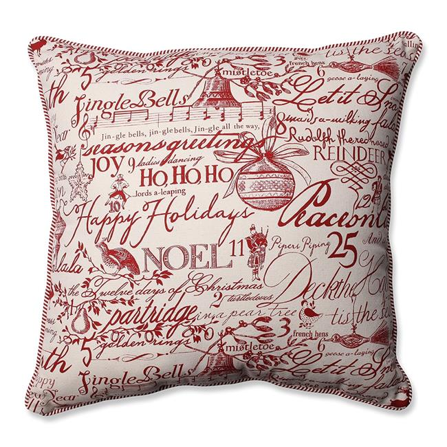 Holiday Poinsettia 18 in. Throw Pillow - image 1 of 1