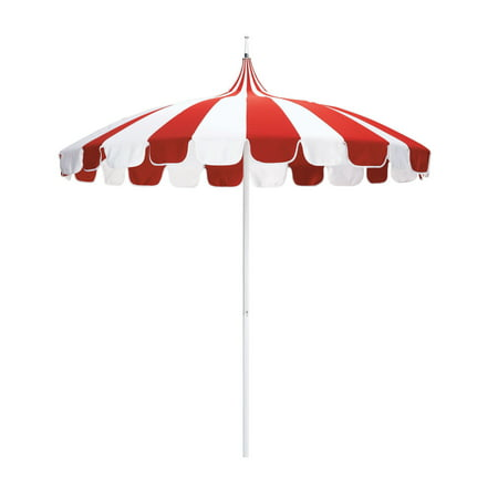 Red Pagoda (California Umbrella 8.5' Pagoda Market Pacifica Patio Umbrella, Multiple)