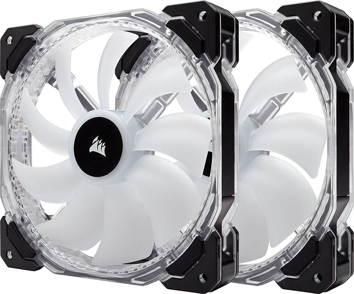 CORSAIR HD Series HD140 RGB LED 140mm High Performance RGB LED PWM Dual Fans with Controller Cooling... by Corsair