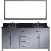 VIRTU USA  Caroline 72-inch Double Bathroom Vanity Cabinet Set