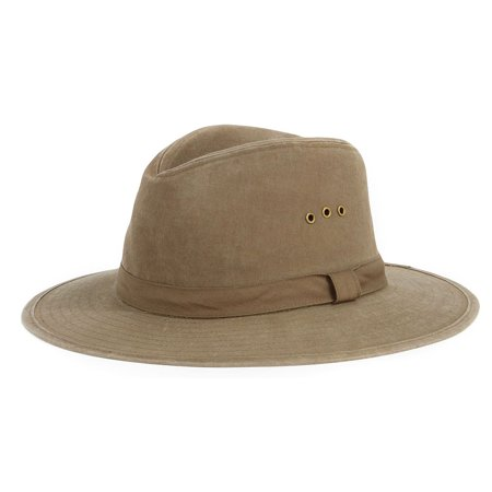 Men's San Diego Hat Company Distressed Canvas Fedora CTH3732