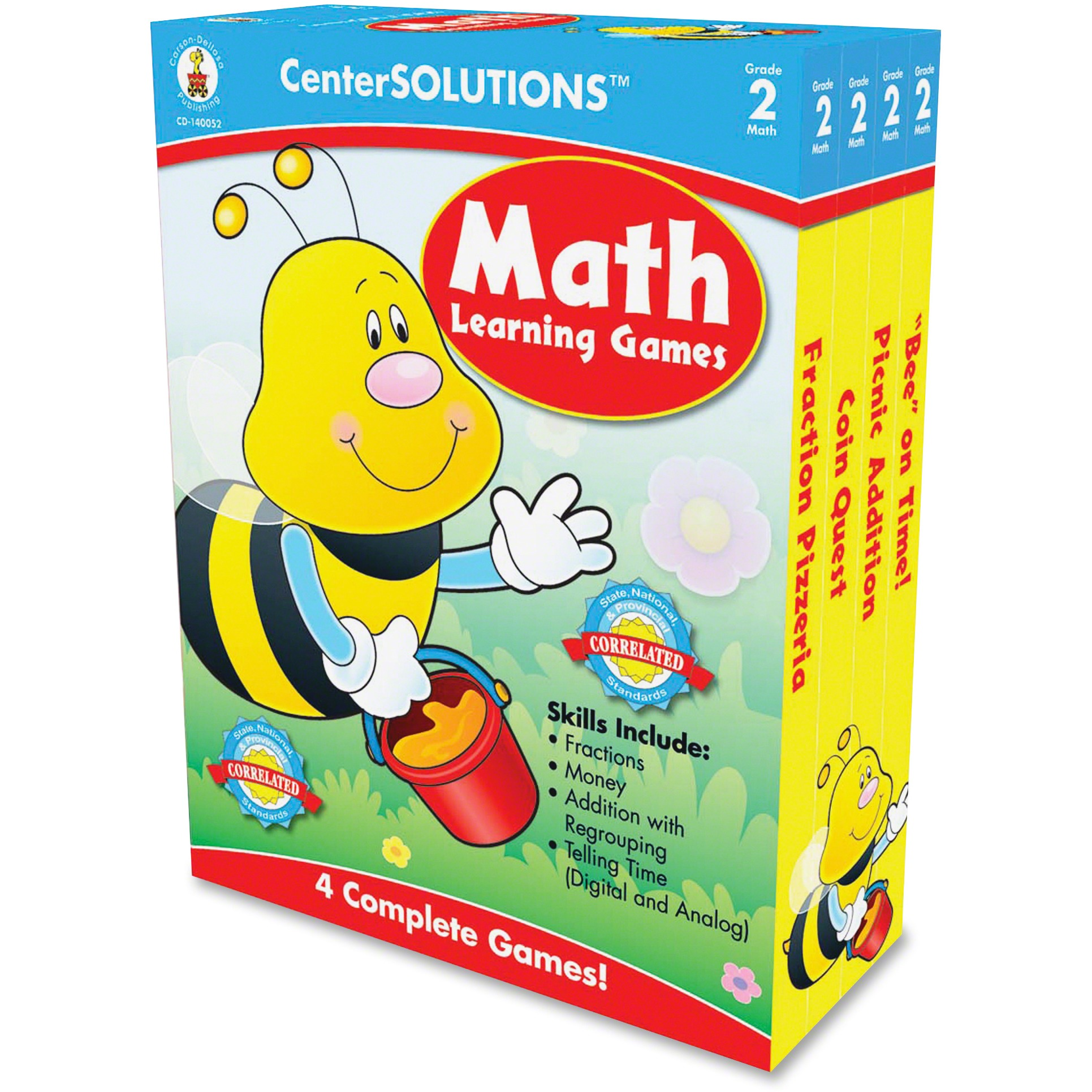 CenterSOLUTIONS, CDP140052, Grade 2 CenterSolutions Math Learning Games, 1 Each