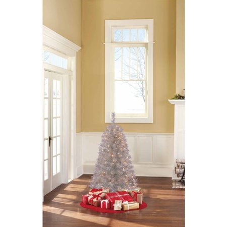 Holiday Time Pre-Lit 4 Frasier Pine Artificial Christmas Tree, Clear Lights