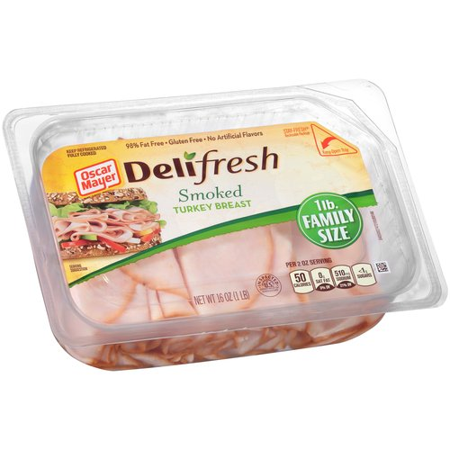Oscar Mayer Deli Fresh Smoked Turkey Breast Lunchmeat, 16 oz