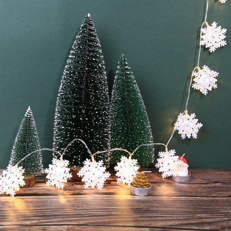 - Metal Snowflake Lights String House Party Decor Striking With 10 LED Beads