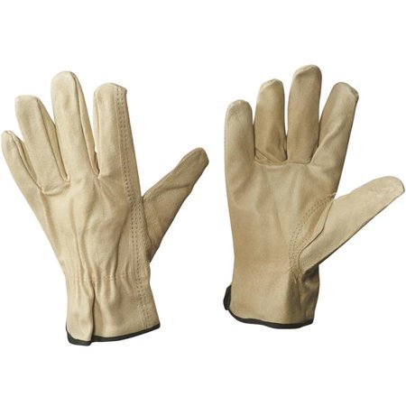 - Box Partners Pigskin Leather Drivers Gloves Medium Natural 3 Pairs/Case GLV1061M