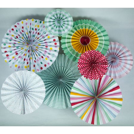 Quasimoon Easter Paper Flower Pinwheel Backdrop Party Wall Decoration Combo Kit by PaperLanternStore