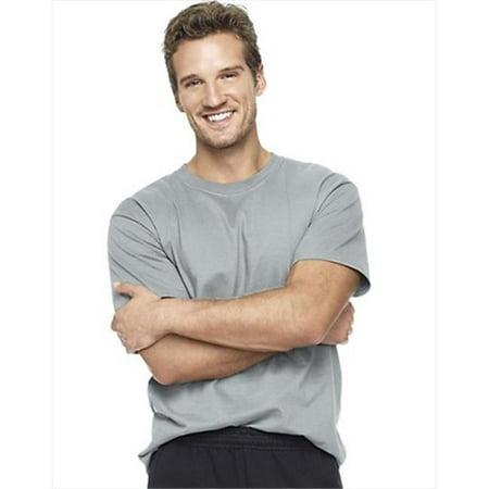 57417f3b Hanes 5180 Beefy T Adult Short-Sleeve T-Shirt Size XXL, Light ...