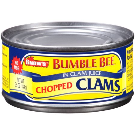 (4 Pack) Bumble Bee Snow's Chopped Clams, 6.5 oz - Bumblebee Socks