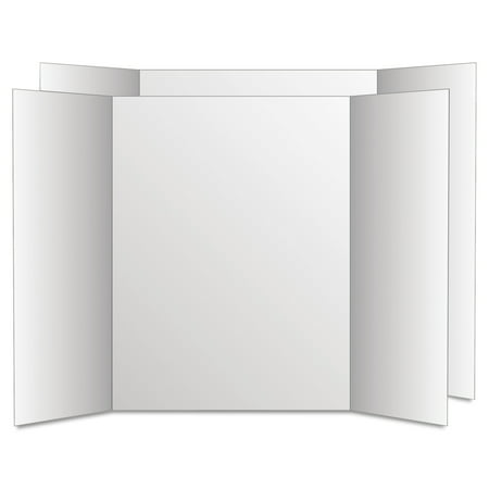 28' White Poster Board (Eco Brites Too Cool Tri-Fold Poster Board, 28
