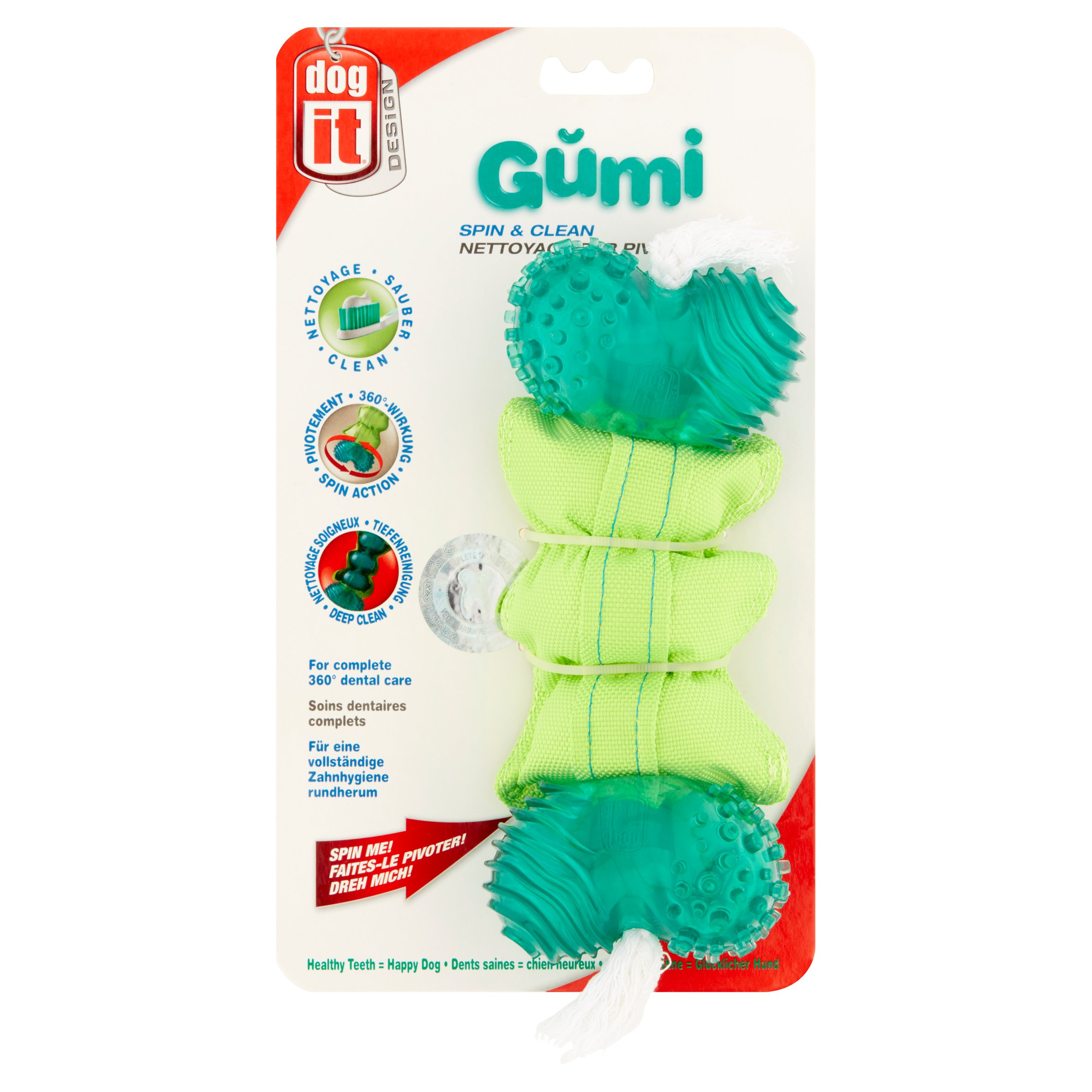 Dog It Design Gŭmi Spin & Clean Gumi Bone