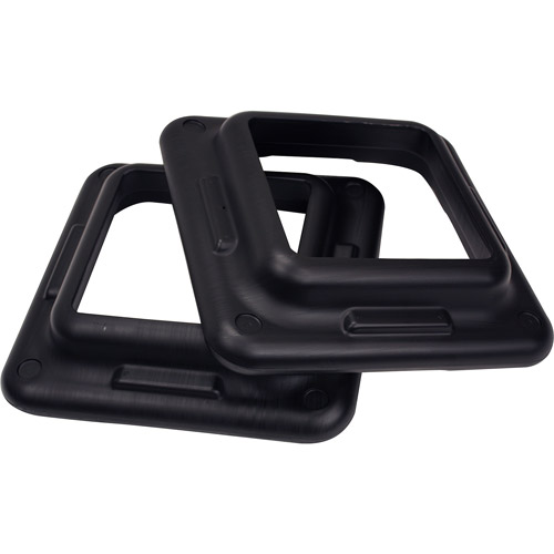 The Step Original Health Club Step Black Risers, 2-Pack