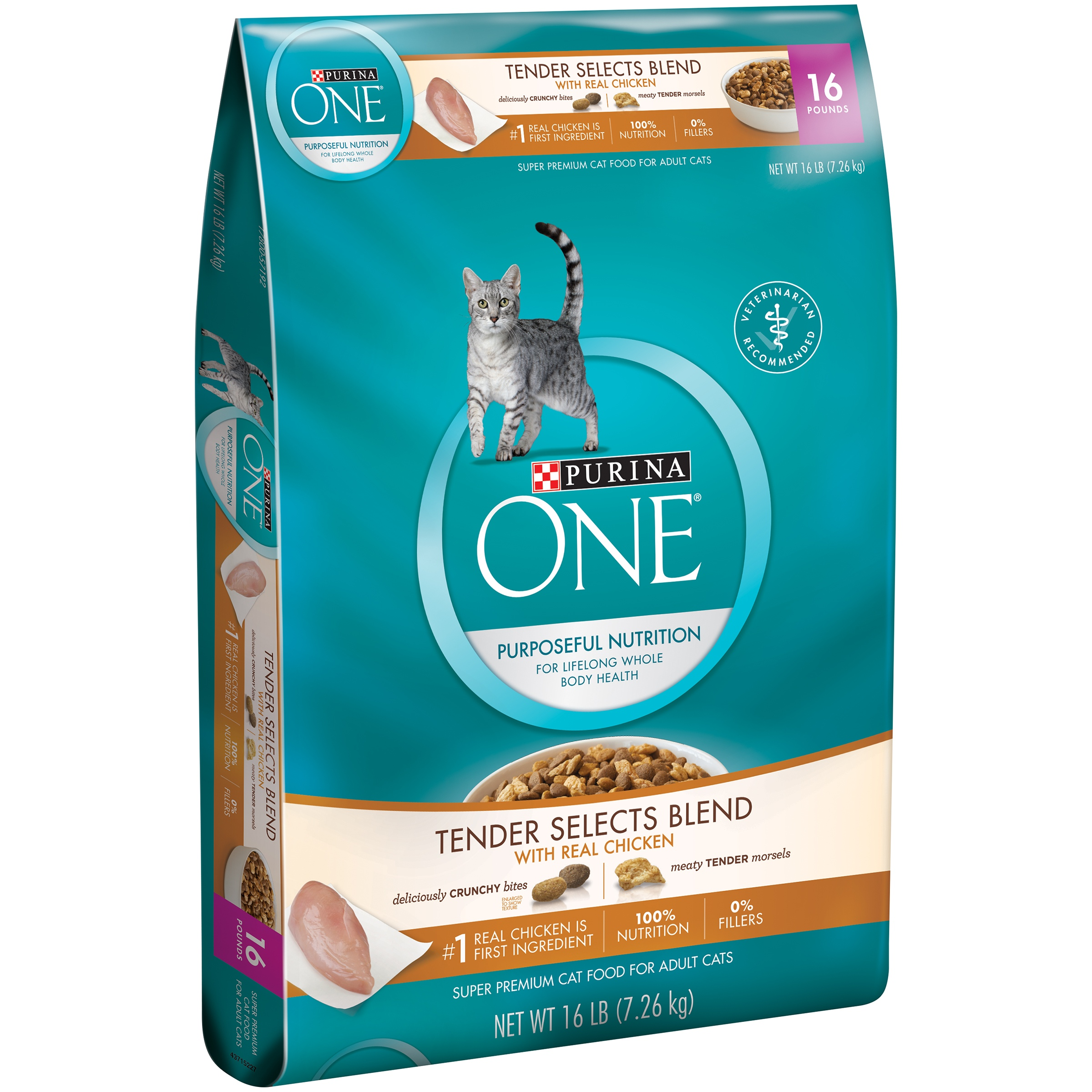 Purina ONE Tender Selects Blend with Real Chicken Cat Food 16 lb. Bag