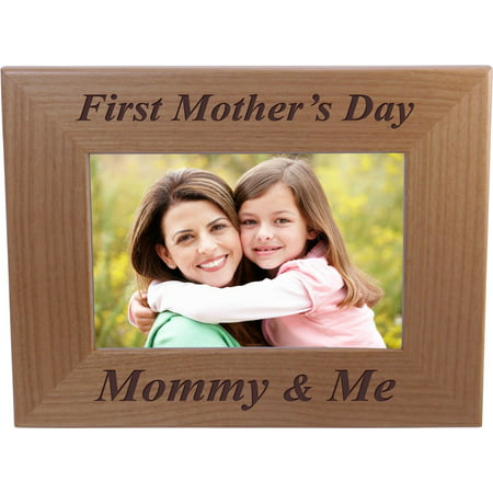 First Mother's Day Mommy & Me - 4x6 Inch Wood Picture Frame - Great Gift for Mothers's Day, Birthday or Christmas Gift for Mom Grandma Wife Grandmother](Happy Mothers Day Photos)