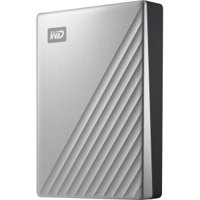 WD 4TB MyPassportUltra SilverPortable External Hard Drive, USB-C - WDBFTM0040BSL-WESN