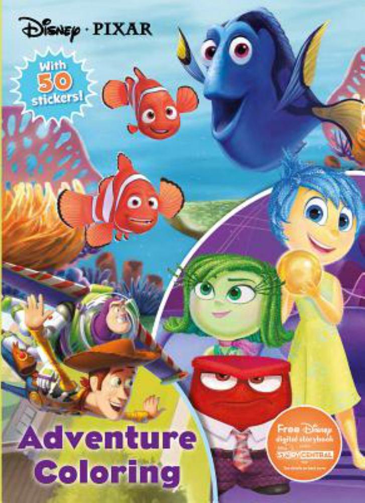 Disney Pixar Adventure Coloring : With 50 Stickers! by Parragon