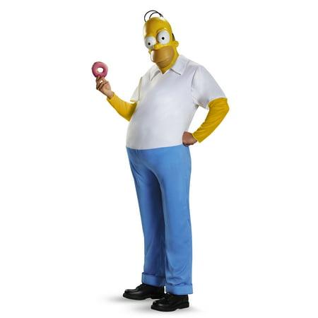 The Simpsons Deluxe Homer Men's Plus Size Adult Halloween Costume, 2X