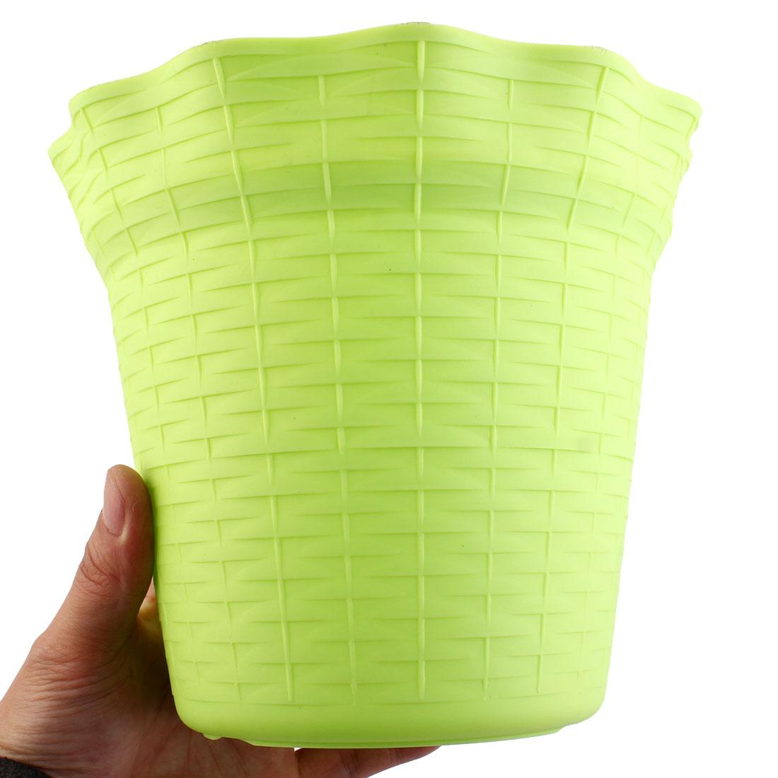 Green 18.7cm Diameter Plastic Flower Pot Plant Planter Home Garden Decor 5pcs - image 2 of 5