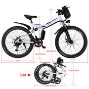 "26"" Electric Bike Foldable Men's Mountain Bike"