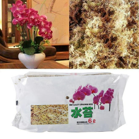 Image of HURRISE 6L Garden Sphagnum Moss Moisturizing Nutrition Organic Fertilizer For Phalaenopsis Orchid, Orchid Sphagnum Moss, Phalaenopsis Sphagnum Moss
