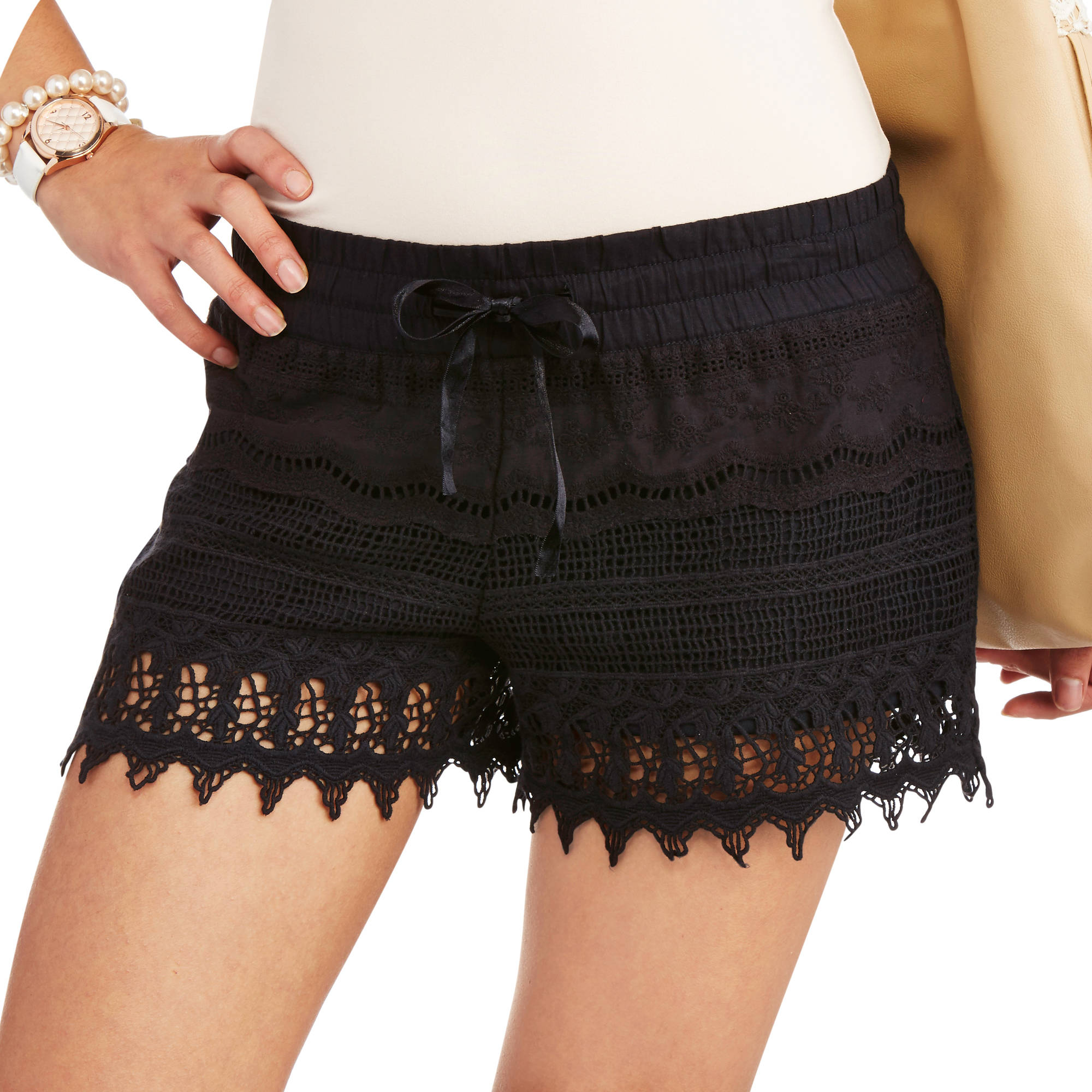 No Boundaries Juniors' Crochet Shorts