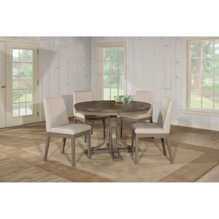 Hillsdale Furniture Clarion Five (5) Piece Round Dining Set with Upholstered Chairs
