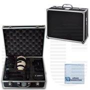 Small Hard Camera Equipment Case For Canon, Nikon, Sony, Samsung, Olympus & Pentax + eCostConnection Microfiber Cloth