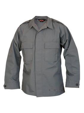 Tru-Spec Long-Sleeve Tactical Shirt Poly-Cotton Ripstop Charcoal XXL-Lng 1376027
