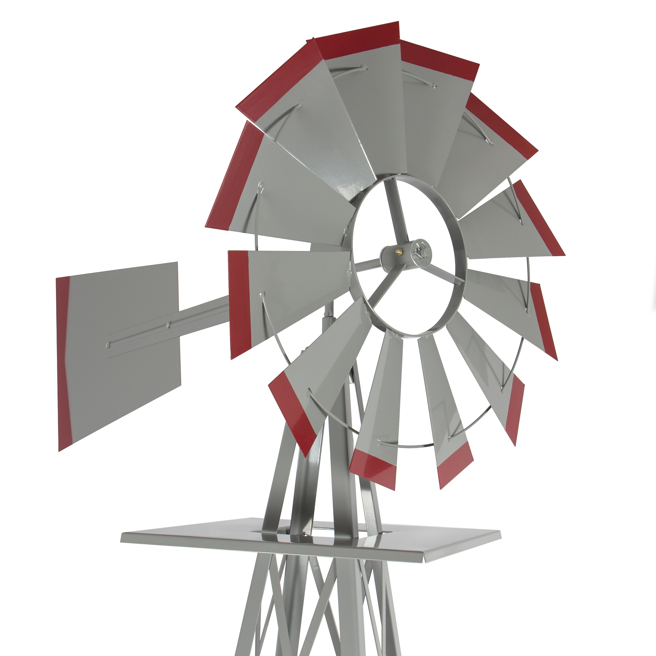 Lawn windmills ornamental - 8 Windmill Ornamental Garden Weather Vane Weather Resistant Silver And Red Walmart Com