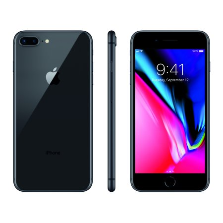 Straight Talk Apple iPhone 8 Plus with 64GB Prepaid Smartphone, Space (Straight Talk Huawei H258c Wireless Home Phone)