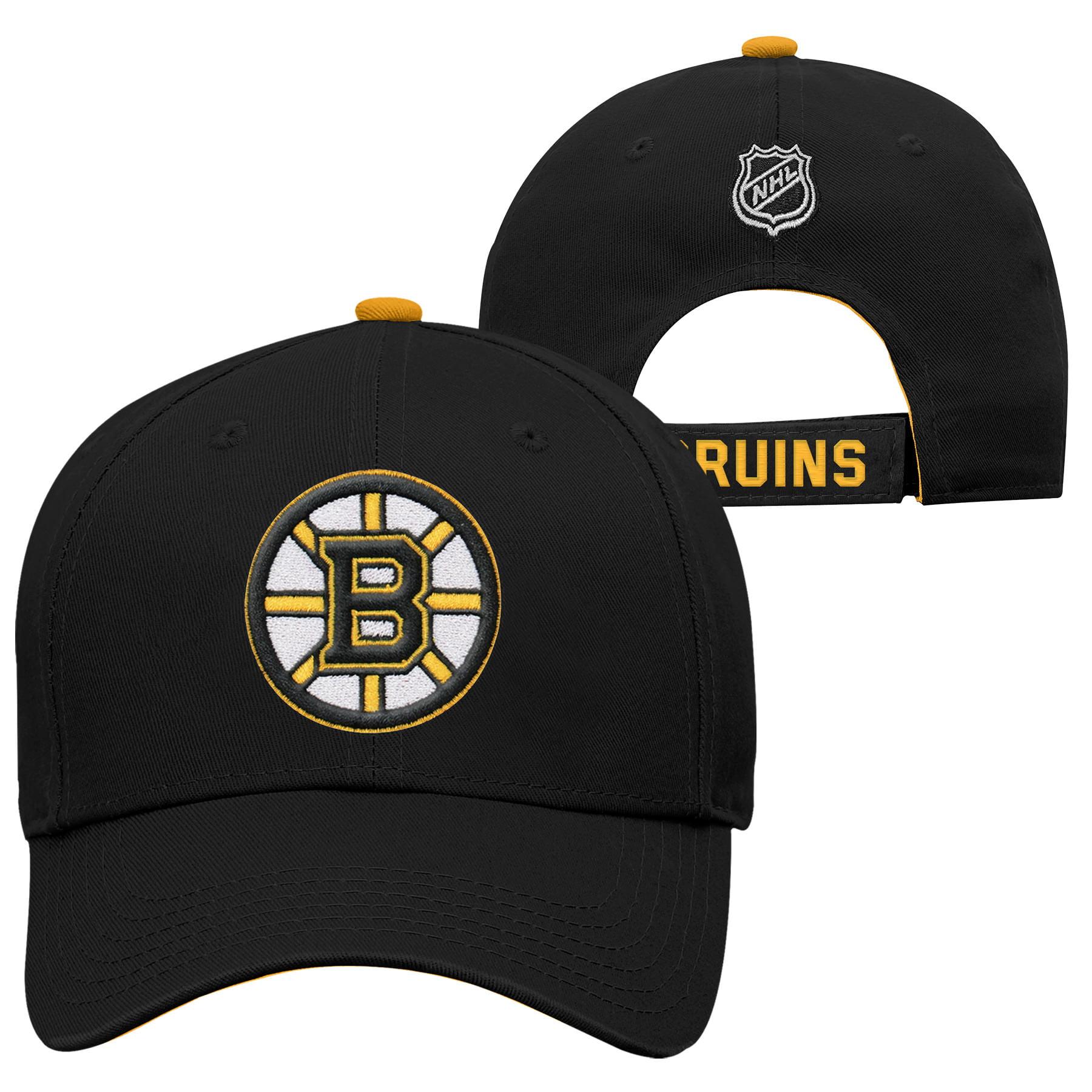 369d9912ddf Outerstuff Youth Boston Bruins NHL Basic Structured Adjustable Cap