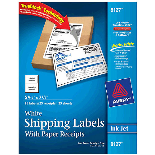 avery white shipping labels with trueblock technology 15264 3 1 3