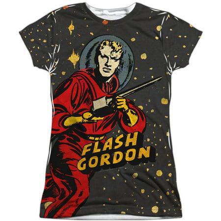 Flash Gordon  Blast Off Girls Jr Sublimation White