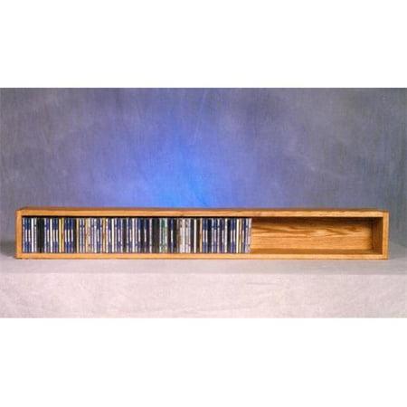 Wood Shed 103-4 Solid Oak Wall or Shelf Mount CD Cabinet