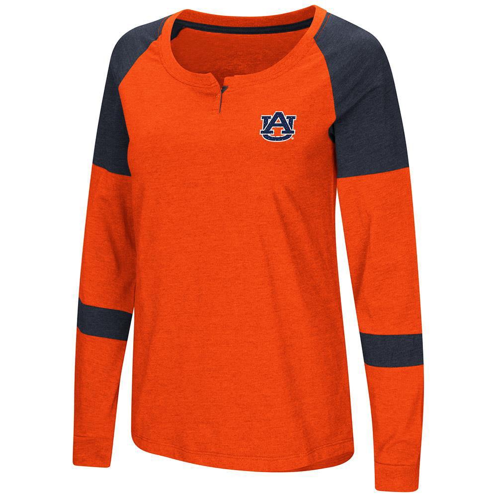 Womens Auburn Tigers Long Sleeve Raglan Tee Shirt M by Colosseum