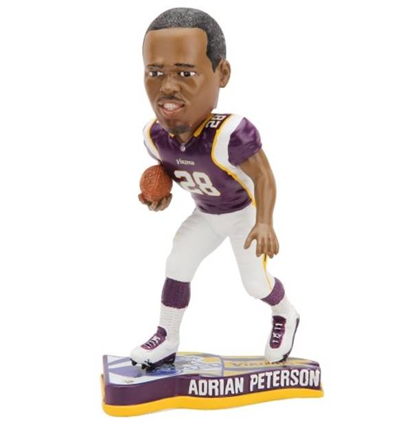 Adrian Peterson Minnesota Vikings 2013 Pennant Base Bobblehead