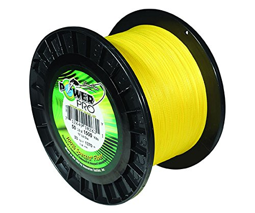 Click here to buy Power Pro 33400651500Y Fishing Line, 65 lb 1500 yd, Yellow by Power Pro.